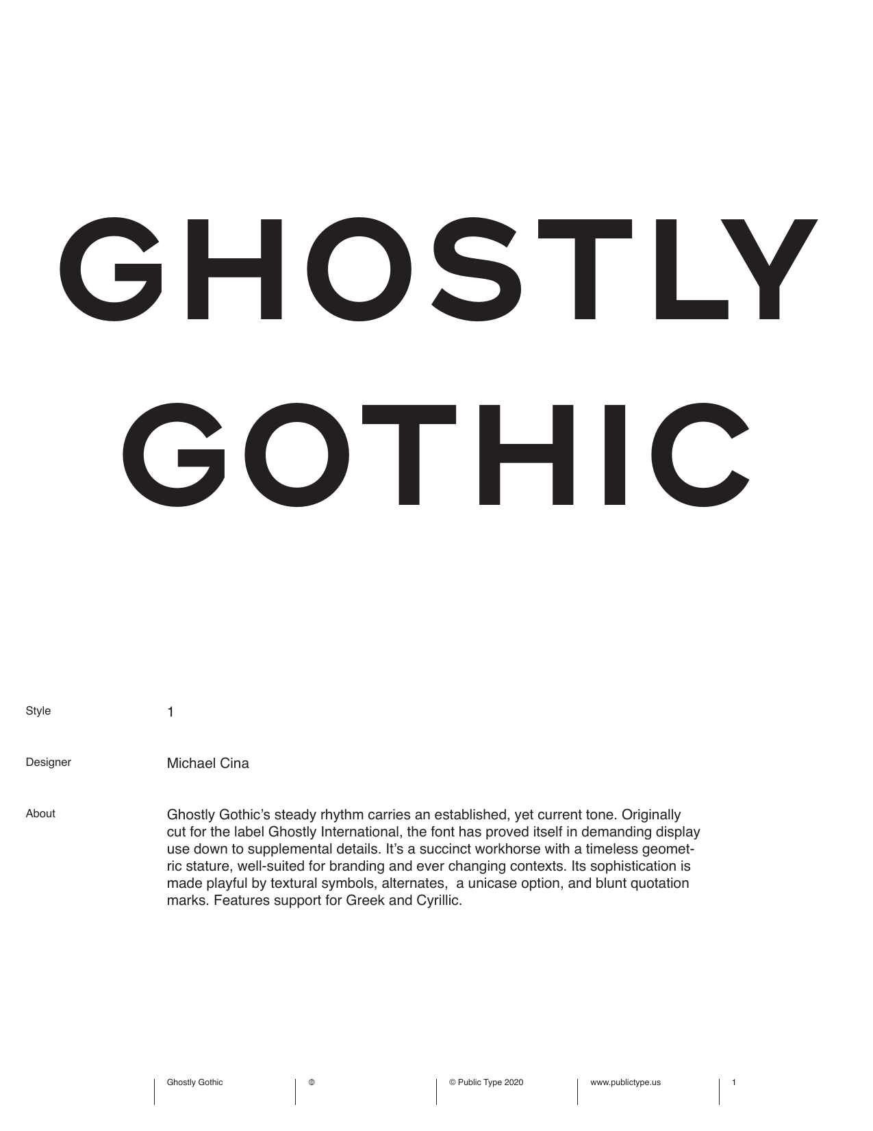 Public Type Ghostly Gothic